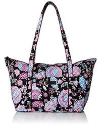 Vera Bradley Blue Miller Travel Bag, Signature Cotton