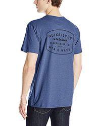 Quiksilver Blue Transition Mod T-shirt for men
