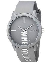 Nine West Gray Strap Watch