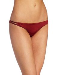 Volcom Red Solid Intuition Skimpy Bottom