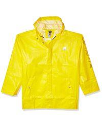 Carhartt Yellow Big And Tall Big & Tall Lightweight Waterproof Rainstorm Coat for men