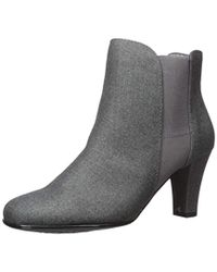 Aerosoles Gray Strole Along Ankle Boot