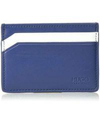BOSS by Hugo Boss Blue Hugo By Subway Leather Cardholder for men