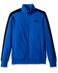 PUMA Blue P48 Core Track Embroidered Jacket for men