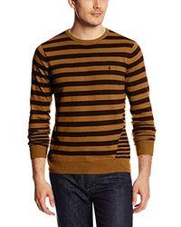 Volcom Brown Main Stripe Sweater for men
