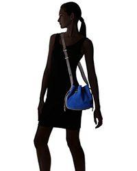 Halston Heritage Blue Bianca Medium Drawstring Handbag