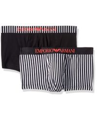 Emporio Armani Black Pattern Mix 2-pack Trunk for men