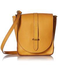 Frye Yellow Ilana Crossbody Messenger Bag