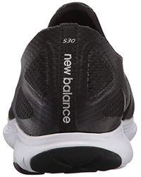 New Balance Black 530v2 Running Shoe-slip On for men