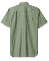 Lacoste Green Short Sleeve Button Down With Pocket Color Chamraby for men