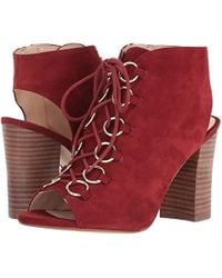 Nine West Red Bree Suede Boot