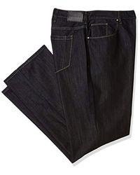 Perry Ellis Big And Tall Black Five Pocket Denim- for men