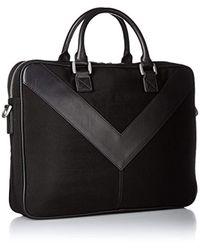 DIESEL Black Mr. V Zipper Mr. V-briefcase for men
