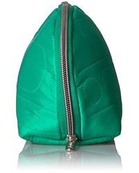 LeSportsac Green Oxford Cosmetic