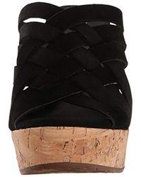 Ugg Black Marta Wedge Sandal