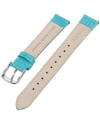 Timex T7b949gz 16mm Peacock Blue Lizard Patterned Leather Watch Strap