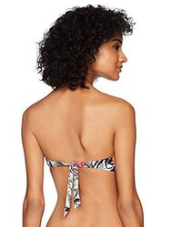 Guess Multicolor Floral Padded Bandeau Bikini Top