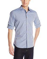 Robert Graham Blue Coconut Grove Button Down Shirt for men