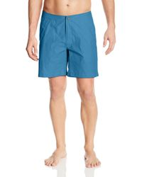 Onia Blue Calder 7.5 Inch Solid Swim Trunk for men