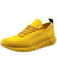 DIESEL SKB S-KBY Stripe-Sneakers Turnschuh in Yellow für Herren