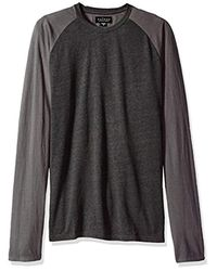 Velvet By Graham & Spencer Gray Cecyl Raglan Long Sleeve Crew for men