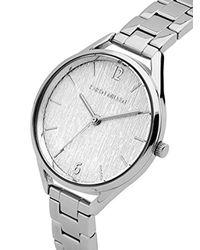 Karen Millen Metallic Textured Dial Bracelet Watch - Silver Colour