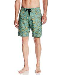 Volcom Green Camel Trot Boardshort for men