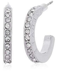 """T Tahari Metallic """"essentials"""" Bright Hoop Earrings"""