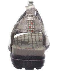 Ecco Gray Jab Toggle Sandal