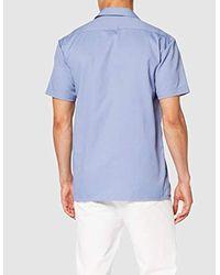 Gulf Blue Short Sleeve Work Shirt 1574GB M Dickies Shirts