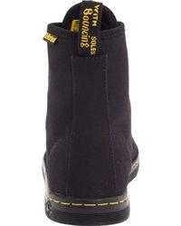 Dr. Martens Black Shoreditch 7-Eye Canvas Boots