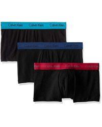 Calvin Klein Black Underwear 3 Pack Low Rise Trunks for men