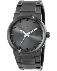 Nixon Multicolor S Cannon Japanese Quartz Stainless Steel Watches All Gunmetal A160 for men