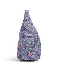 Vera Bradley Blue Lighten Up Sling Backpack