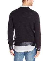 Kenneth Cole Multicolor Kenneth Cole Raglan Long-sleeve Crew-neck Sweater for men