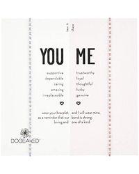 Dogeared Metallic S Ss Pink/lavender Friendship Bracelet, Silver, 9