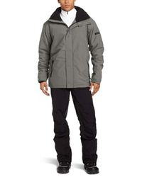 Quiksilver Gray Snow Next Mission Solid Jacket for men