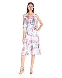 Cynthia Rowley Multicolor Midi Dress With Popover Detail