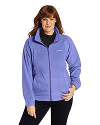 Columbia Blue Plus Size Benton Springs Full Zip Jacket