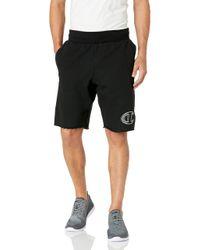 Champion Black 10 Inch Reverse Weave Cut-off Shorts for men