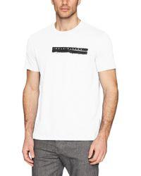 Calvin Klein White Jeans Short Sleeve T-shirt Calvin Pocket Print Crew Neck for men