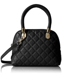 Cole Haan Black Benson Quilted Small Dome Satchel