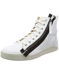 DIESEL White Tempus S-diamzip Fashion Sneaker for men