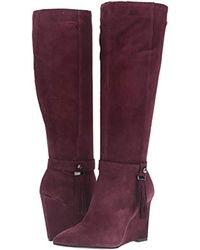 Nine West Purple Thorley Suede Knee-high Boot