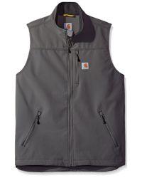 Carhartt Gray Big Big & Tall Denwood Vest for men