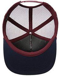 RVCA - Red Foamy Trucker Hat for Men - Lyst