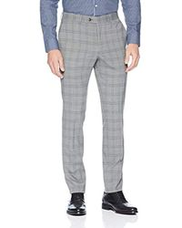 Original Penguin Gray Skinny Fit Grey Plaid 2 Piece Nested Suit for men