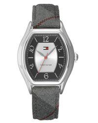 Tommy Hilfiger Multicolor 1780777 Fashion Plaid Canvas Strap Watch