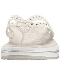 Skechers White Upgrades Flip Flop