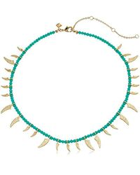 Rebecca Minkoff - Multicolor S Tiki Beaded Spike Necklace - Lyst